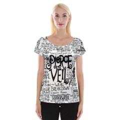 Pierce The Veil Music Band Group Fabric Art Cloth Poster Women s Cap Sleeve Top by Onesevenart