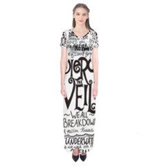 Pierce The Veil Music Band Group Fabric Art Cloth Poster Short Sleeve Maxi Dress by Onesevenart
