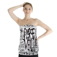 Pierce The Veil Music Band Group Fabric Art Cloth Poster Strapless Top by Onesevenart