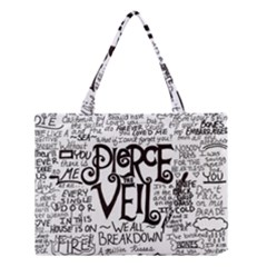 Pierce The Veil Music Band Group Fabric Art Cloth Poster Medium Tote Bag by Onesevenart