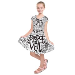 Pierce The Veil Music Band Group Fabric Art Cloth Poster Kids  Short Sleeve Dress by Onesevenart