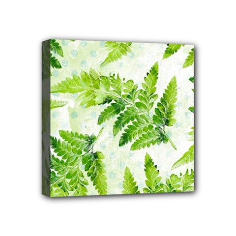 Fern Leaves Mini Canvas 4  X 4