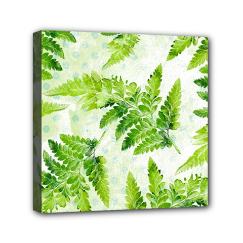 Fern Leaves Mini Canvas 6  x 6