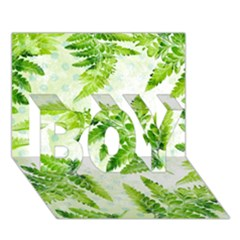 Fern Leaves BOY 3D Greeting Card (7x5)