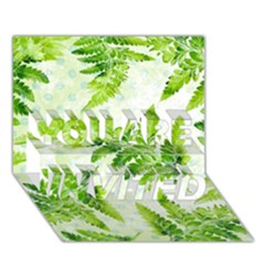 Fern Leaves You Are Invited 3d Greeting Card (7x5) by DanaeStudio