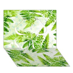 Fern Leaves Clover 3D Greeting Card (7x5)