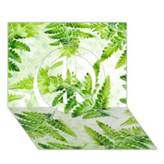 Fern Leaves Peace Sign 3D Greeting Card (7x5)