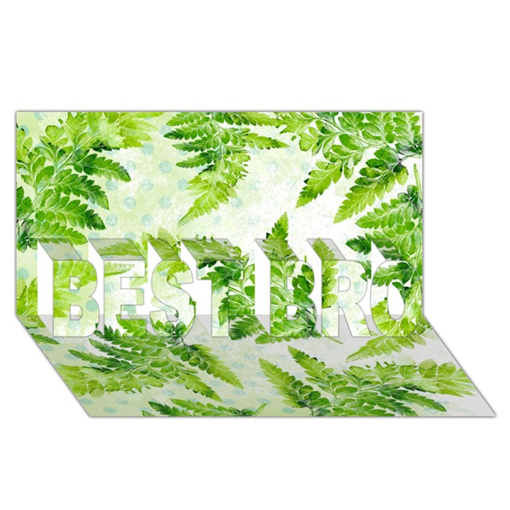 Fern Leaves BEST BRO 3D Greeting Card (8x4)