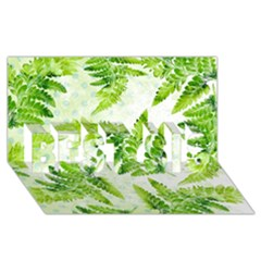 Fern Leaves BEST SIS 3D Greeting Card (8x4)