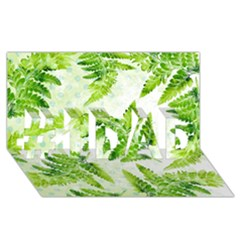 Fern Leaves #1 DAD 3D Greeting Card (8x4)