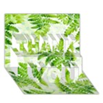 Fern Leaves THANK YOU 3D Greeting Card (7x5)