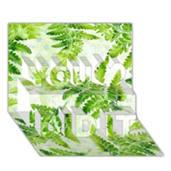 Fern Leaves You Did It 3D Greeting Card (7x5)