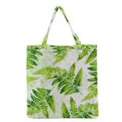 Fern Leaves Grocery Tote Bag by DanaeStudio