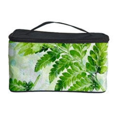 Fern Leaves Cosmetic Storage Case by DanaeStudio