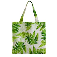 Fern Leaves Zipper Grocery Tote Bag