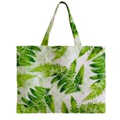 Fern Leaves Zipper Mini Tote Bag by DanaeStudio