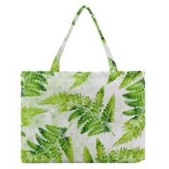 Fern Leaves Medium Zipper Tote Bag by DanaeStudio