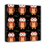 Halloween brown owls  Mini Canvas 8  x 8