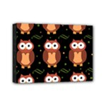 Halloween brown owls  Mini Canvas 7  x 5