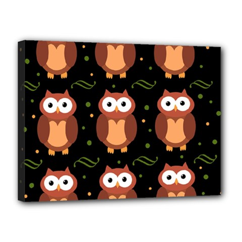 Halloween brown owls  Canvas 16  x 12