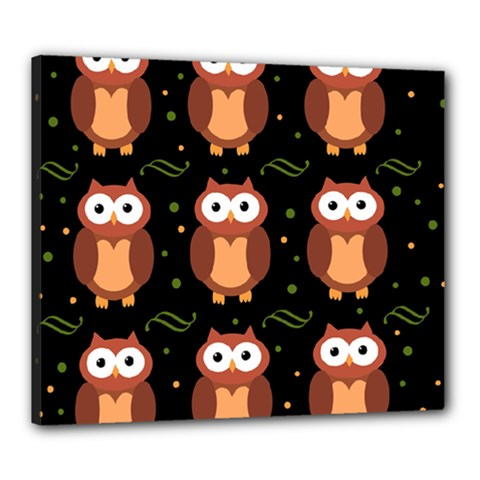 Halloween brown owls  Canvas 24  x 20