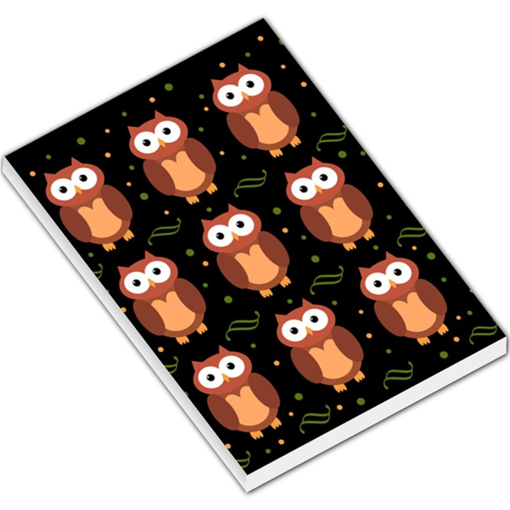 Halloween brown owls  Large Memo Pads