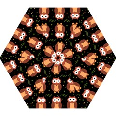 Halloween brown owls  Mini Folding Umbrellas