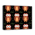 Halloween brown owls  Deluxe Canvas 20  x 16