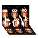 Halloween brown owls  BOY 3D Greeting Card (7x5)