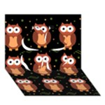Halloween brown owls  Clover 3D Greeting Card (7x5)