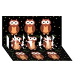 Halloween brown owls  BEST SIS 3D Greeting Card (8x4)