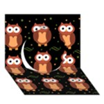 Halloween brown owls  Circle 3D Greeting Card (7x5)