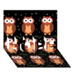 Halloween brown owls  HOPE 3D Greeting Card (7x5)