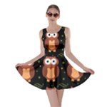 Halloween brown owls  Skater Dress