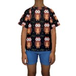 Halloween brown owls  Kids  Short Sleeve Swimwear