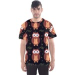 Halloween brown owls  Men s Sport Mesh Tee