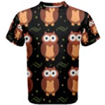 Halloween brown owls  Men s Cotton Tee