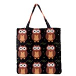 Halloween brown owls  Grocery Tote Bag