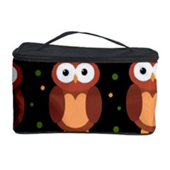 Halloween brown owls  Cosmetic Storage Case
