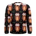 Halloween brown owls  Men s Long Sleeve Tee