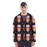 Halloween brown owls  Hooded Wind Breaker (Men)