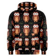 Halloween Brown Owls  Men s Zipper Hoodie