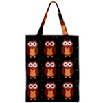 Halloween brown owls  Zipper Classic Tote Bag