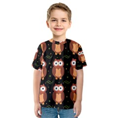 Halloween brown owls  Kids  Sport Mesh Tee