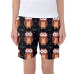 Halloween brown owls  Women s Basketball Shorts