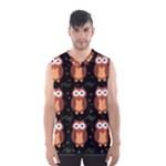 Halloween brown owls  Men s Basketball Tank Top