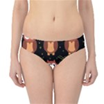 Halloween brown owls  Hipster Bikini Bottoms