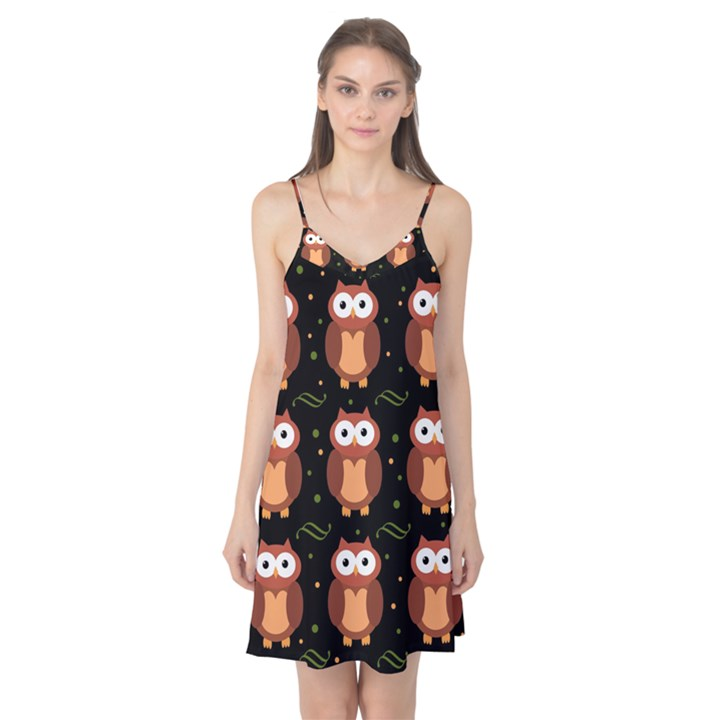 Halloween brown owls  Camis Nightgown
