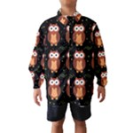 Halloween brown owls  Wind Breaker (Kids)