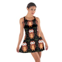 Halloween brown owls  Cotton Racerback Dress